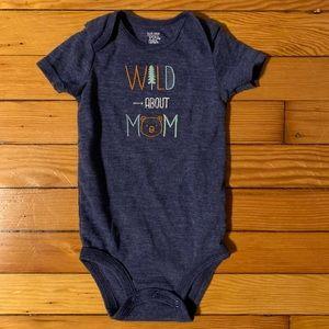 Wild About Mom Onesie 9m